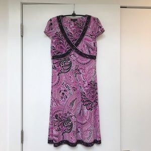Tahari Theresa Black, Pink & White Dress by ASL